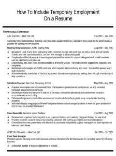 how to incorporate temporary employment on your resume résumés